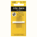 NEEDLES FOR WOOL TAPESTRY JOHN JAMES JJ19846 - MIXED MEAS 24/26