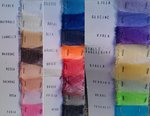 RIBBON CRINOLINA MM.75 COLOURED - ROLLS OF 33 METERS - 1 WEEK