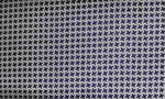 LINING FABRIC PEARL GREY/STAMP PIED POULE BLU-VISCOSE 100%