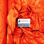 SHANTUNG FABRIC - COL ORANGE - PURE SILK - MADE IN ITALY