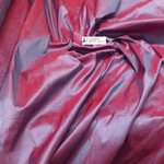 SHANTUNG PURE SILK -OTTANIO/PURPLE DUPION FABRIC MADE IN ITALY  / CM 144