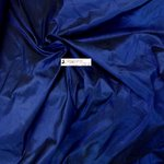 SHANTUNG PURE SILK FABRIC BLU ROYAL NERO/2011 / WIDTH CM 144 - MADE IN ITALY