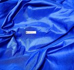 SHANTUNG PURE SILK -166 BLU ROYAL - DUPION FABRIC MADE IN ITALY  / CM 144
