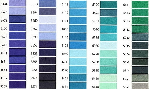 Amann Isacord 40 1000 Mt Colors From 00003 To 2500 Fabrics