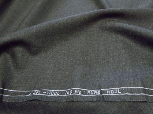 Fabric cool wool 100% pure wool dark grey width cm 155