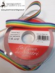 RIBBON GROS GRAIN OF PEACE/RAINBOW CM 1,6 (MM16) - ROLL OF 25 MT