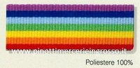 RIBBON MULTICOLOR PEACE RAINBOW