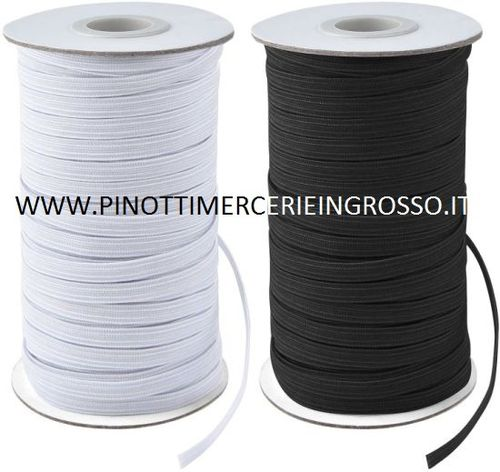 ELASTIC FOR MASKS WIDTH MM.7 - ROLL OF 300 MT