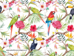 FABRIC TROPICAL STAMP - PURE COTTON - BY METER/ WIDTH CM 150